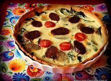 Tarta z chorizo i jarmużem - ugotuj