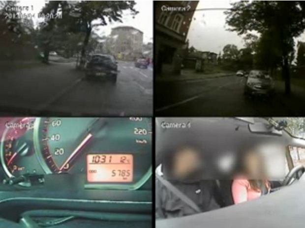 Kursantka obla�a egzamin na prawo jazdy. Uciek�a egzaminatorowi [WIDEO]