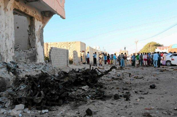 Miejsce ataku w Mogadiszu