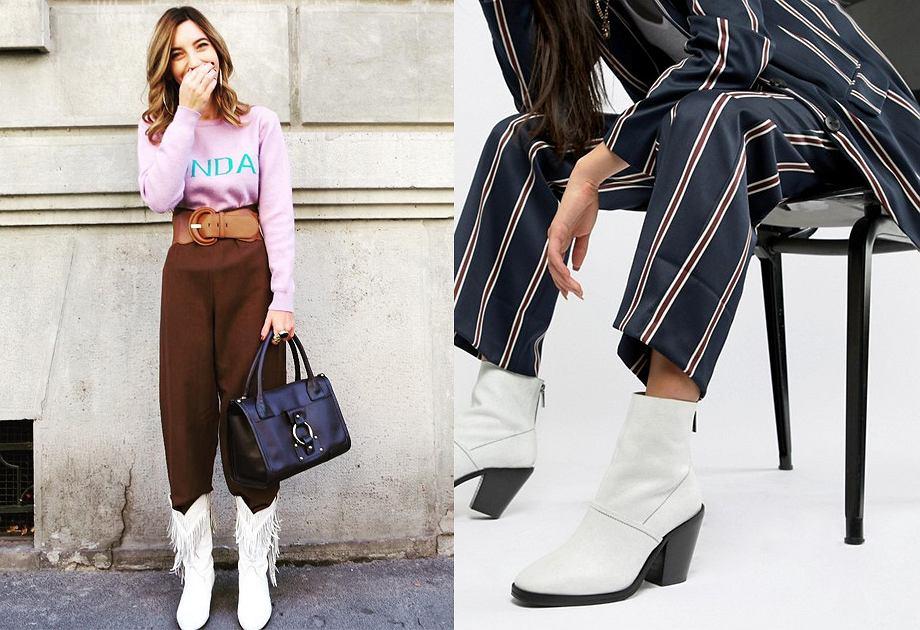 Białe botki - modne buty jesienne damskie