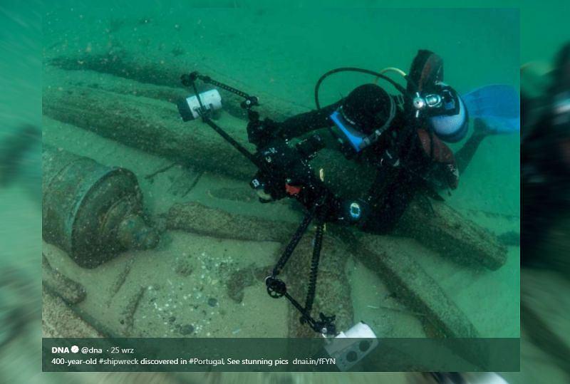 Przy brzegu w Portugalii znaleziono wrak sprzed 400 lat. To ''najważniejsze odkrycie wszech czasów'