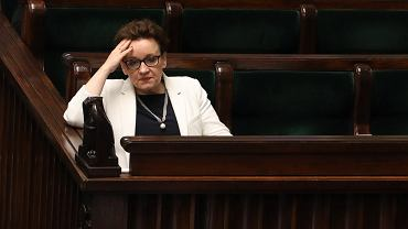 Minister edukacji Anna Zalewska podczas debaty w sejmie na temat edukacji, 20 czerwca 2017.
