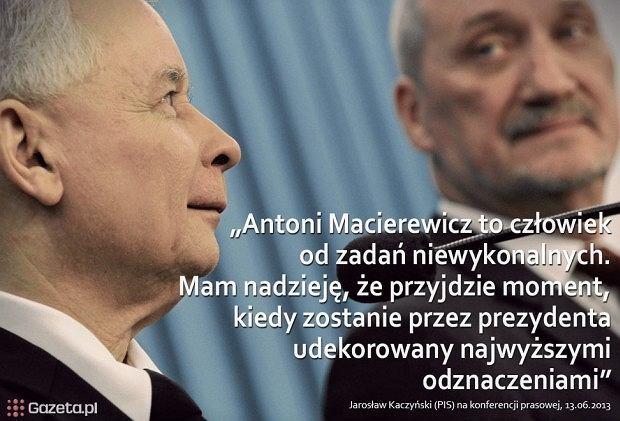 Jaros�aw Kaczy�ski i Antoni Macierewicz