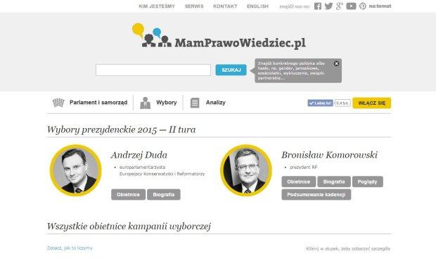 """MamPrawoWiedziec.pl zaatakowane przez haker�w. """"Kto� si� w�ama�, podmieniaj�c nazwiska kandydat�w i umieszczaj�c '�mieszne' zdj�cia"""""""