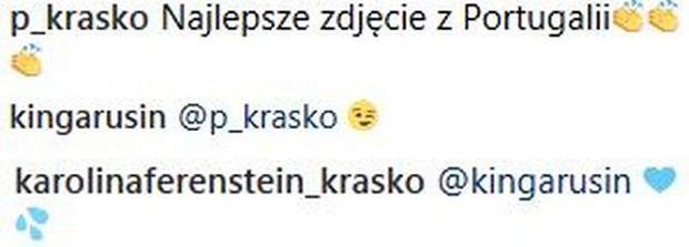 Wpisy pod zdjęciem Kingi Rusin na Instagramie