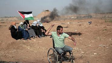 Protesty Palestyńczyków w Strefie Gazy (14 maja 2018)