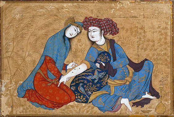 Kochankowie na tle pejzażu, Iran