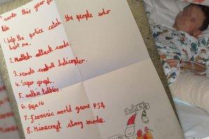 """Najsmutniejszy list do �w. Miko�aja: """"Pom� policji z�apa� bandyt�w, kt�rzy mnie postrzelili"""""""