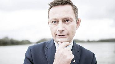 Kandydat na urząd prezydenta Warszawy Paweł Rabiej podczas prezentacji programu wyborczego 'Warszawa z rozmachem'.