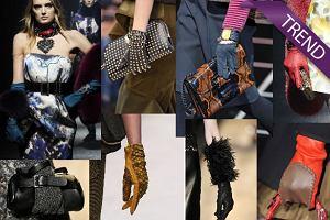 Trendy z wybieg�w: oryginalne r�kawiczki na sezon jesie� - zima 2012/13