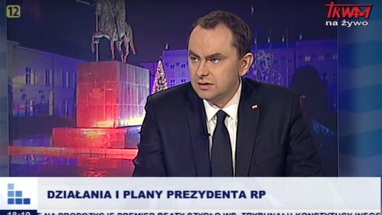 Szef gabinetu prezydenta Adam Kwiatkowski w TV Trwam