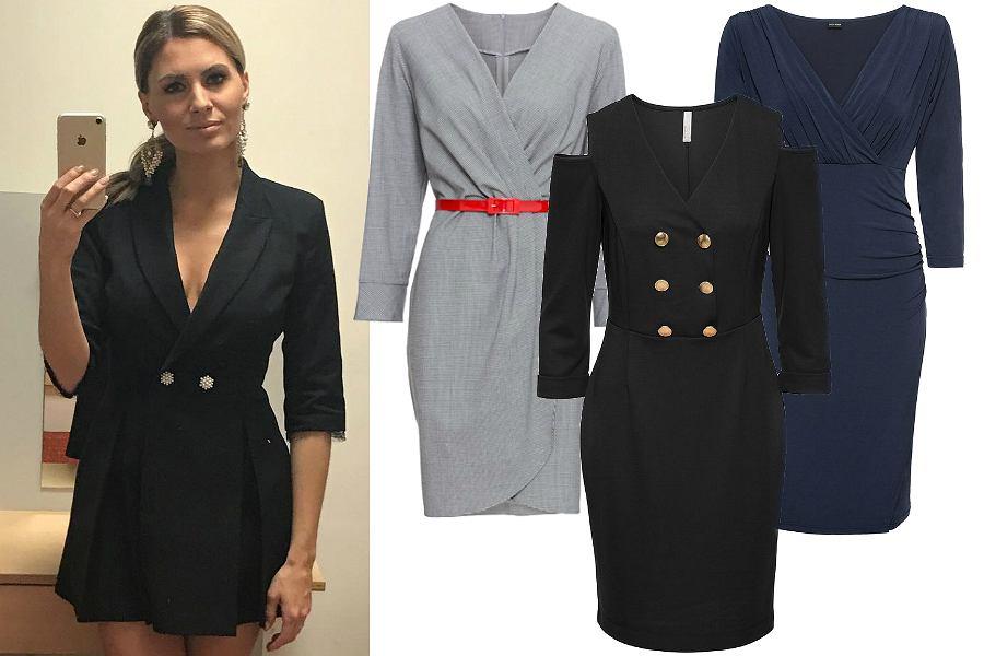 fef949feff Modne sukienki do pracy na jesień  garniturowy model w stylu Hyży to ...