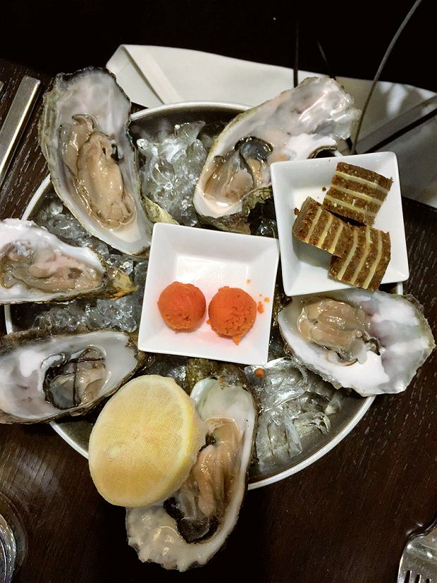 Brema, restauracja Alto, ostrygi