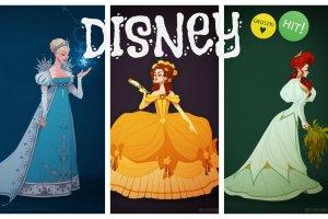 Ksi�niczki Disneya w strojach z epoki od Claire Humme