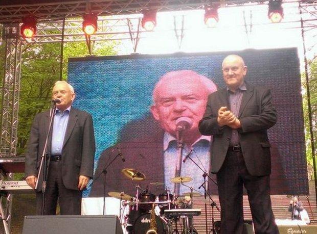 Leszek Miller i szef OPZZ Jan Guz
