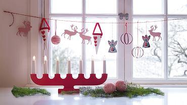 Świąteczna dekoracja okienna