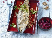 Ryba z nadzieniem z granatów i orzechów - ugotuj