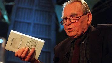 Czesław Miłosz w Teatrze Dramatycznym w 1996 roku