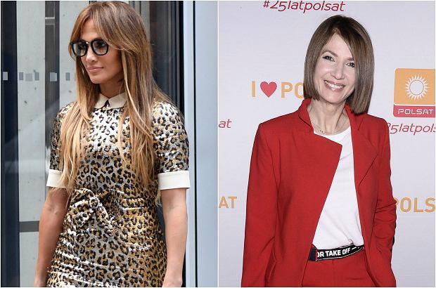 """Kto powiedział, że wiek musi wiązać się z nudnym ubiorem? Te gwiazdy skończyły już 45 lat, a nadal wyglądają sexy i bardzo """"młodzieżowo"""". Jennifer Lopez potrafi prezentować się elegancko nawet w sukience z nadrukiem w cętki."""