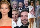 Kradzie� nagich zdj�� gwiazd, oscarowe selfie, �lub Clooneya. Tymi wydarzeniami �y� zachodni show-biznes