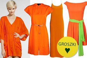 25 sukienek w kolorze soczystej pomara�czy