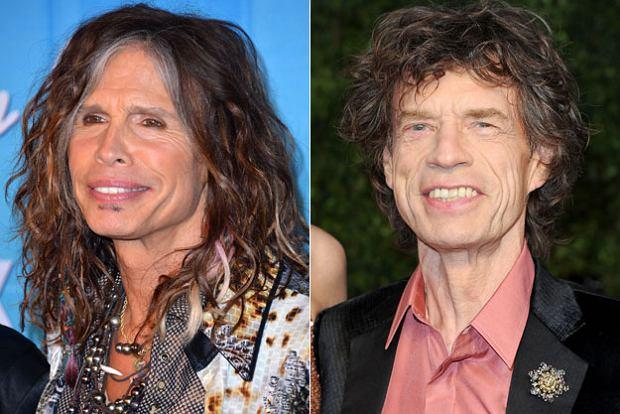 Steven Tyler, Mick Jagger