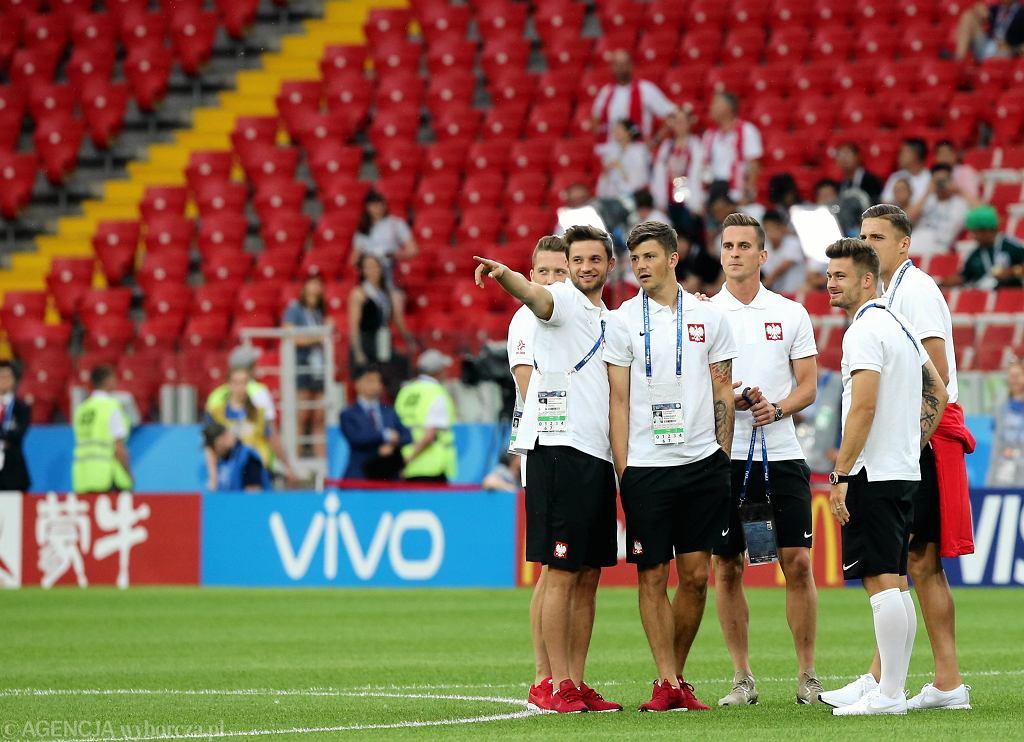 Mundial 2018. Warszawiacy i turyści oglądają mecz Polska-Senegal w Strefie Kibica na Stadionie Narodowym