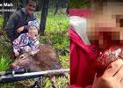 """Ojciec i córka upolowali jelenia. Mężczyzna pokazał zdjęcie 8-latki """"gryzącej ciepłe, drżące serce"""""""