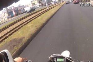 W 20 minut ponad 30 wykrocze�: 19-latek z Bydgoszczy przejecha� na motocyklu przez galeri� handlow�