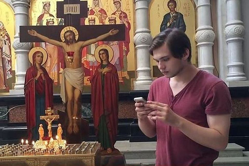 Sąd uznał, że Rusłan Sokołowski (nz.) grając w pokemon go popełnił czyn ekstremistyczny i wlepił mu wyrok 'za obrazę uczuć religijnych' - jakby to określił prezydent Władimir Putin, 'trójeczkę z plusem'
