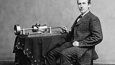 Thomas Edison z fonografem