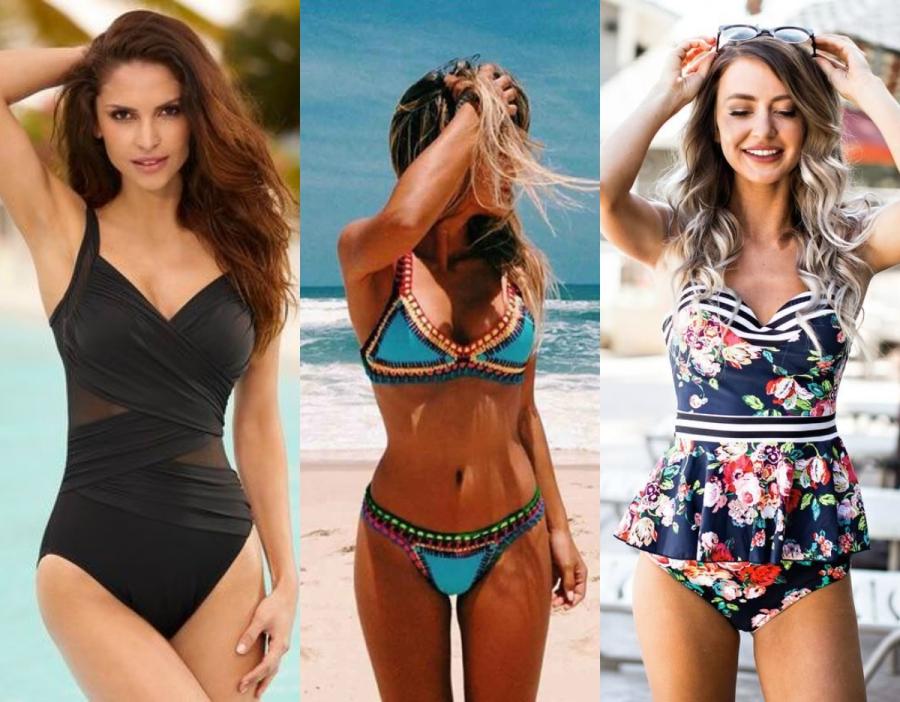Jak dobrze wyglądać na plaży - strój kąpielowy / fot. womensfashionblog.net, jassieline.com, radswim.com
