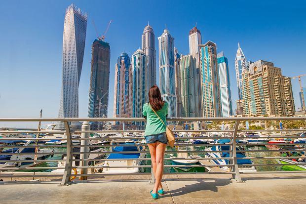 Widok na dzielnicę Dubai Marina