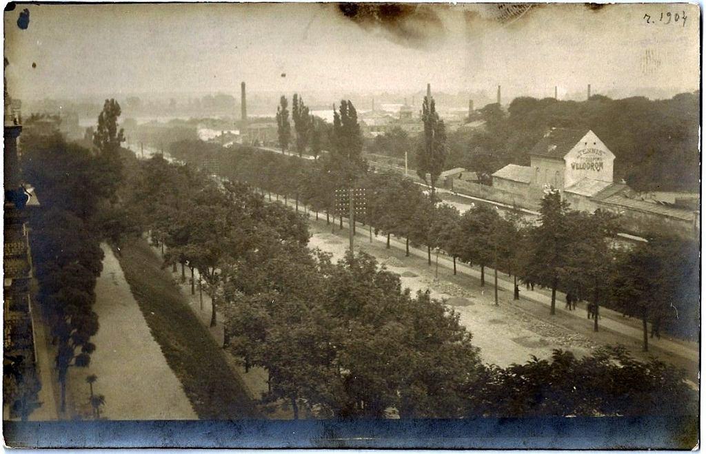 Panorama Alej Jerozolimskich w 1904 roku.