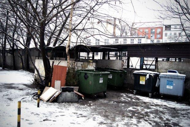 Śmietniki, gdzie chronią się bezdomni