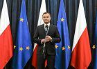 Prezydent Andrzej Duda podczas wczorajszego wyst�pienia. - Uwa�am, �e nowelizacja ustawy, kt�r� podpisa�em, przyczynia si� do wzmocnienia pozycji i sytuacji Trybuna�u Konstytucyjnego - powiedzia� dziennikarzom