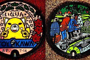 W Polsce niezauważalne, w Japonii - dzieła sztuki. Zachwycające... pokrywy na studzienki kanalizacyjne [ZDJĘCIA]