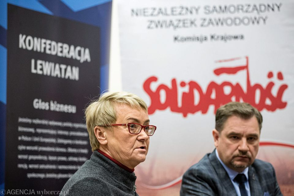 Konferencja prasowa Henryki Bochniarz oraz Piotra Dudy