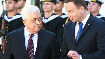 Prezydenci Polski i Palestyny Andrzej Duda i Mahmud Abbas