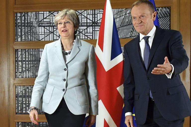 Theresa May i Donald Tusk