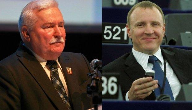 Lech Wa��sa i Jacek Kurski