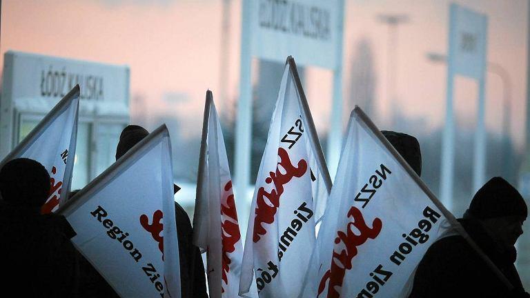 Dworzec Łódź Kaliska. Strajk kolejarzy