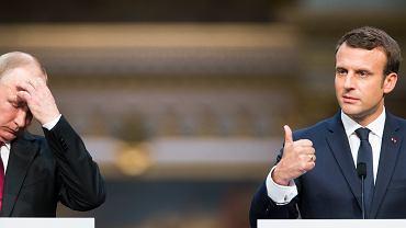 Spotkanie Emmanuel Macron - Władimir Putin