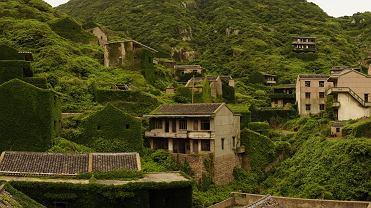 Wioska Houtouwan na wyspie Shengshan w Chinach