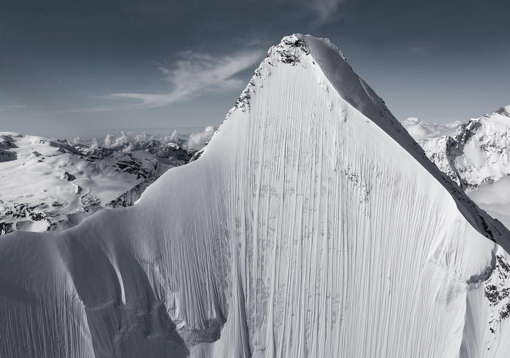 Narciarz Jérémie Heitz w Alpach Pennińskich