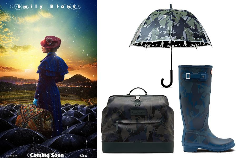 Limitowana kolekcja Hunter x Disney to gratka dla fanów Mary Poppins. Kalosze i torba będą idealne na deszczowe jesienne spacery.