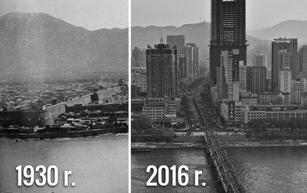 Jak w ci�gu 100 lat zmieni�y si� Chiny? Stare i wsp�czesne zdj�cia [POR�WNANIE]