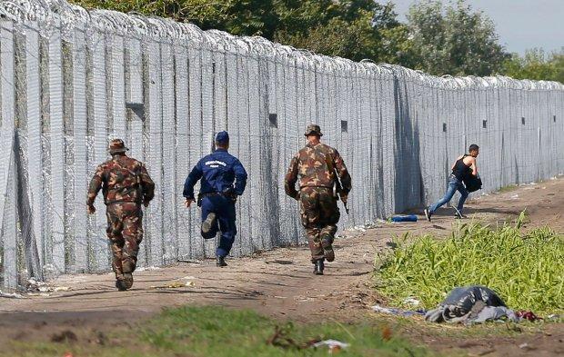 P�ot na granicy w�giersko-serbskiej