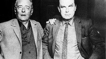 Czesław Miłosz w gościnie u Witolda Gombrowicza w Prowansji. Rok 1966