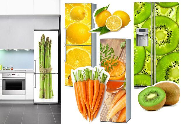 Naklejki na lodówkę - warzywa i owoce